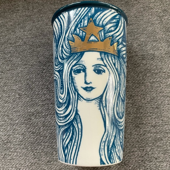 RARE Starbucks Mermaid Siren Queen Ceramic Cup